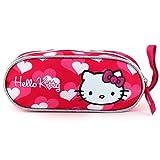 Hello Kitty 16320 Trousse scolaire ellipse avec cœurs