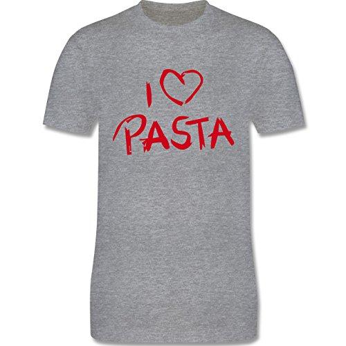 Küche - I Love Pasta - Herren Premium T-Shirt Grau Meliert