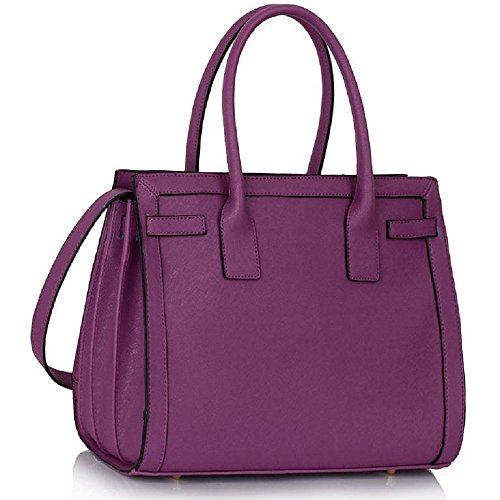 - 51FgQb 2BGBXL - Tote Handbags For Women Handbag Large Bags For Women Womens Beautiful Stylish Designer Faux Leather Tote Handbags (CC – Purple)