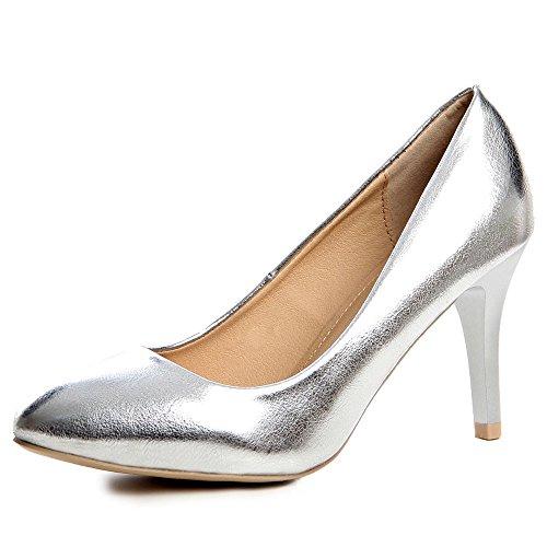 topschuhe24, Scarpe col tacco donna Argento (argento)