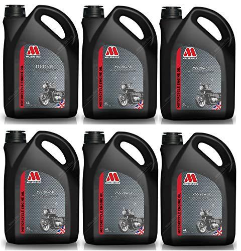 Millers Oils ZSS 4T 20W50 Halbsynthetisches Motorenöl, 24 Liter