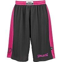 3X Spalding Essential reversibile Shirt Short Basketball Wende trikot Wende Hort + Rs della Sports penna a sfera, nero/rosa, XXXL