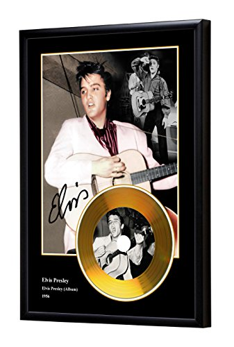 Elvis Presley Album Replica gerahmte CD Gold Disc (B) (Gold Gerahmt)