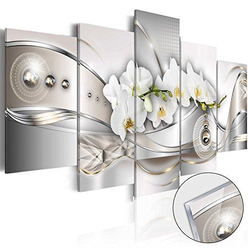 murando - Acrylglasbild Abstrakt 100x50 cm - 5 Teilig - Bilder Wandbild - modern - Decoration - Blumen b-A-0073-k-n