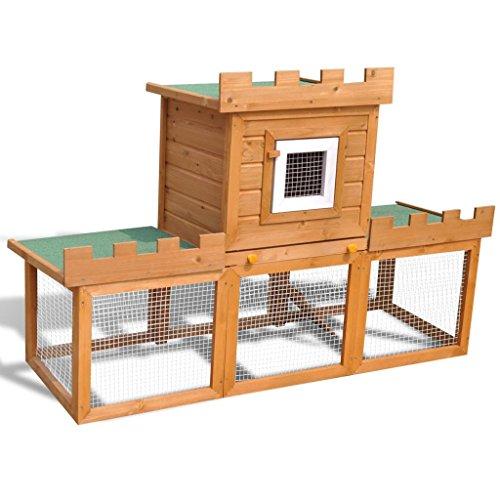 Vidaxl gabbia con casetta per conigli da esterno grande