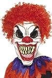 KULTFAKTOR GmbH Horror-Clown Maske Halloween Schwarz-Rot-Weiss Einheitsgröße