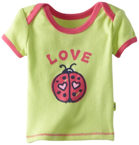 Life Is Good Baby Love Bug Ringer Tee, Citron Green
