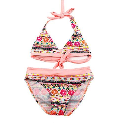 IPBEN Badeanzug Mädchen, Schlinge Bikinis für Kindere Zweiteiliger Quaste Badekleidung Schwimmanzug Bikini Sets (6t, Light pink)