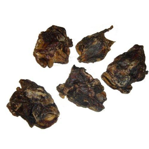 Artikelbild: Grobys Futterkiste Rinderkehlköpfe getrocknet als Fleisch u. Knorpel Knabberspaß, Verpackungseinheit:1 Kilogramm