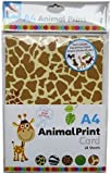 Anker Kids Create Arts and Crafts Animal Print Card, Plastic, Assorted Colour, A4, Sheet of 20
