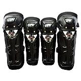 Wenwenzui-FR 4pcs Moto Genou coude Protecteur équipement de Protection de Motocross pour Adultes
