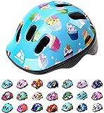 Casco Bicicleta Bebe Helmet Bici Ciclismo para Niño - Cascos para Infantil Bici Helmet para Patinete Ciclismo Montaña BMX Carretera Skate Patines monopatines MV6-2 (S(48-52cm), Muffins)
