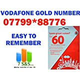 New Vodafone Golden Number Easy to Remember Pay As You Go Triple Cut Sim Card Standard, Micro & Nano Size...