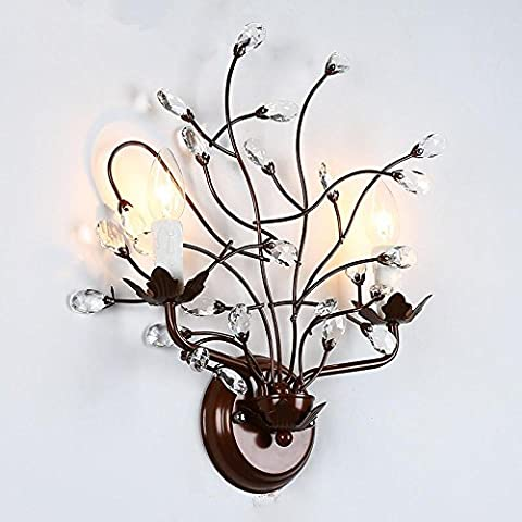 LIVY D'epoca industriale parete villaggio americano in ferro battuto lampada da parete cristallo resina Cafe camera da letto comodino lampada