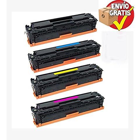 GOLDAN REMANUFACTURADO HP TONER PACK 4 UNIDADES CE410X Alta capacidad 4.000 Páginas (Nº305X)) / CE411A (2.600 Páginas Nº305A / CE412A (2.600 Páginas Nº305A) / CE413A (2.600 Páginas Nº305A) Reemplazo para LaserJet M540 Series / M570 Series ENTREGA GRATIS 24/48h