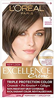 LOreal Excellence Creme Triple Protection Color 5 Medium Brown for Unisex - 1 Application