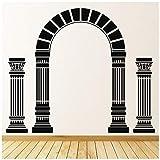 azutura Griechische Säulen Wandtattoo Altes Griechenland Wand Sticker Schlafzimmer Schule Wohnkultur verfügbar in 5 Größen und 25 Farben X-Groß Basalt Grau