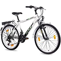 24 pulgadas City Bike Joven bicicleta KCP terr litio Gent con 18 velocidades Shimano Negro.
