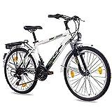 '24'City Bike Vélo Garçon KCP terr Ion Gand avec 18vitesses Shimano Noir/Blanc