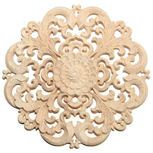 Europäischen Stil Holz Applique Handwerk Möbel Woodcarving Ecke Dekoration Typ B - Handwerk Holz-applique
