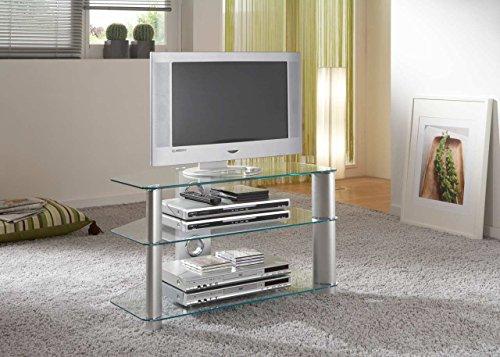 Fernsehtisch, Rack, Glastisch, TV Board, Fernsehschrank, TV Bank, Glasregal, TV Tower, TV Ständer,...