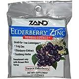 Zand, Elderberry Zinc, Herbalozenge, Sureau Doux, 15 Pastilles