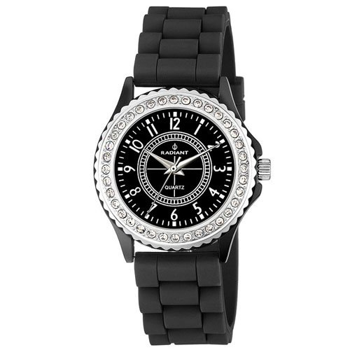 Radiant RA104601 – Watch with Rubber Strap for Women, Colour Black/Grey