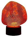 Originelle 3D LED-Lampe Spiel-Würfel Multicolor Farbwechsellicht Wohnzimmerlampe