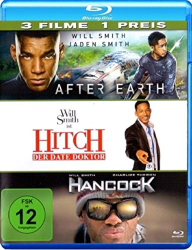 Hancock / Hitch / After Earth [Blu-ray] Will Smith Pack 3 Filme