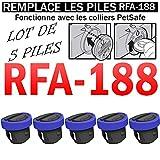 Lot DE 5 Piles SB-188 Compatible PETSAFE RFA-188 3V Lithium 160mAh SB-188 | REMPLACE Les Piles...
