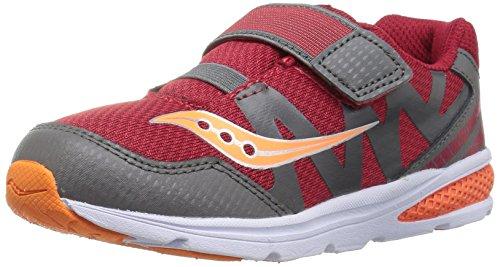 Saucony Kids' Baby Ride Pro Running-Shoes,Red/Grey/Orange,5.5 Wide US Toddler (Saucony Kleinkind -, Schuhe)