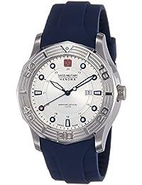 Swiss Military Hanowa - Reloj analógico de cuarzo para hombre con correa de plástico, color azul