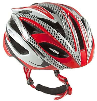 Aerolite Men's AeroStream Bicycle Helmet - Red, Size 58-61 by Aerolite