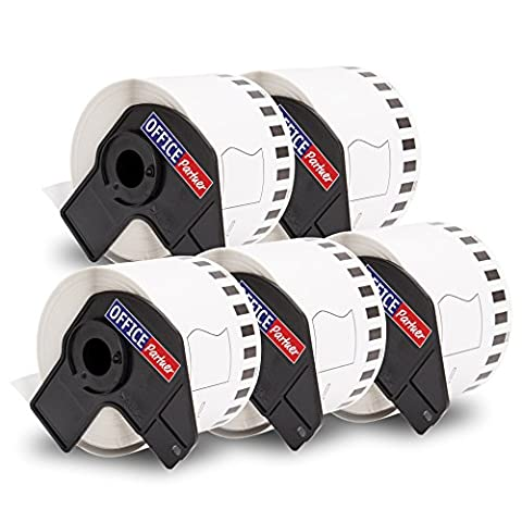 5x Compatible BROTHER DK-22205 Standard Adress Label - Thermal Paper Roll / 62mm x 30,48m - suitable for Brother P-Touch QL 500 Series / 500 / 500A / 500BS / 500BW / 550 / 560 Series / 560 / 560VP / 560YX / 570 / 580 Series / 580 / 580N / 650TD / 700 / 710W / 720NW / 1000 Series / 1050 / 1050N / 1060N