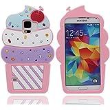 Samsung Galaxy S5 i9600 Hülle Stoßfest Schutzhülle Case Sehr weich Silikon Gel Hübsch Design 3D Bunt Eiscreme Aussehen [ Passt perfekt ] [Bequemer Griff]