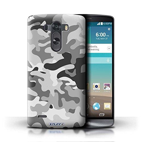 Kobalt® Imprimé Etui / Coque pour LG G3/D850/D855 / Marron 2 conception / Série Armée/Camouflage Blanc 1