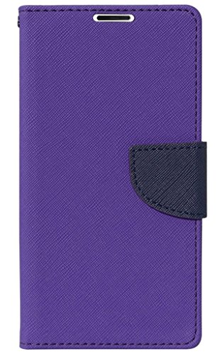 SCHOFIC Premium Fancy Wallet Diary with Card Slots [POCKETS] , Stand View and Magnetic Strap [LOCKING] Faux Leather Flip Stand Back Case Cover for Micromax A114 Canvas 2.2 - Pretty Purple  available at amazon for Rs.225