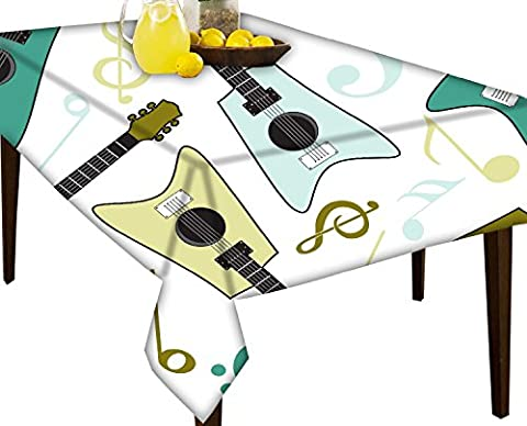 Guitars Water Repellent Tablecloth Dining Table Cover Protector