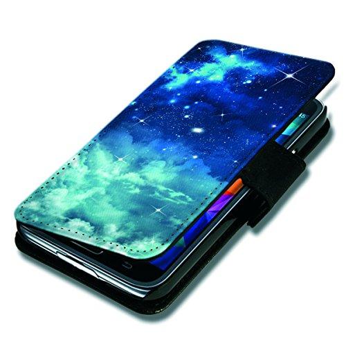 Book Style Flip Handy Tasche Case Schutz Hülle Schale Motiv Foto Etui für HTC Desire 500 - Flip BV21 Design9