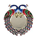 #5: Bombay Haat Designer Big Size Golden Puja Thali / Tilak Thali / Engagement Ring Platter with two katoris