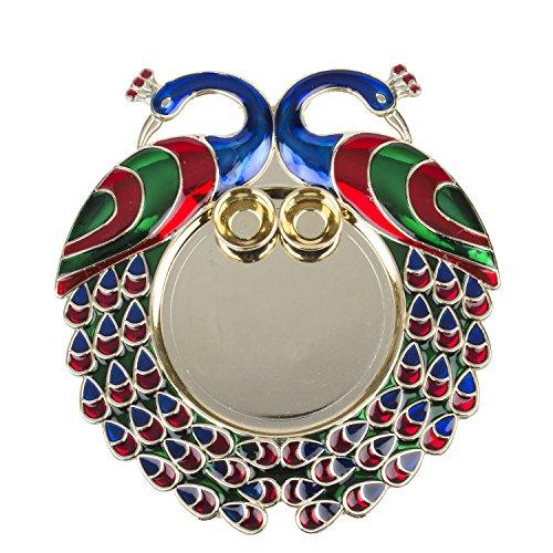 Bombay Haat Designer Golden Pooja Thali / Engagement Ring Platter / Tilak Thali