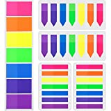 700 Piezas Notas Adhesivas Índices 3 Tamaños Etiquetas Grabable Marcador de Página Tiras de Resaltador de Texto, 7 Colores, 5 Set