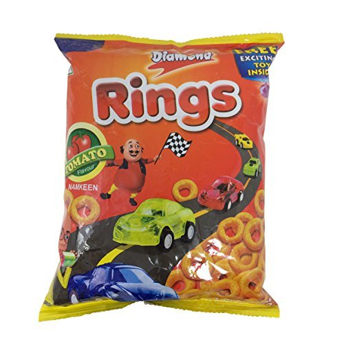 Yellow Diamond Namkeen - Rings Tomato, 45g Pack