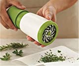 Herb Mill Grinder Mint, Oucles Mincer Parsley Grater Shredder Fruit Vegetable Cutter Pollen Tobacco Spice Catcher Presser Chopper Scraper Kitchen Tool (White Green)