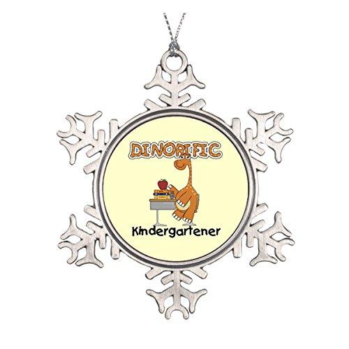 Daily Lady dinorific kindergartener T-Shirts und Geschenke Runde Keramik Weihnachten Ornament