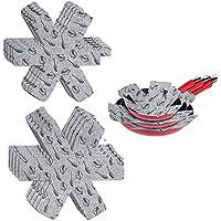 HOMDO Lot de 15 Protection Casseroles et Protège-Poêle en Feutre Rembourré Poêle Protection avec 3 Tailles pour Séparer…