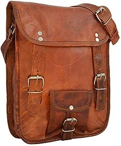 Gusti Leder H59 - Bolso bandolera de piel unisex, color marrón