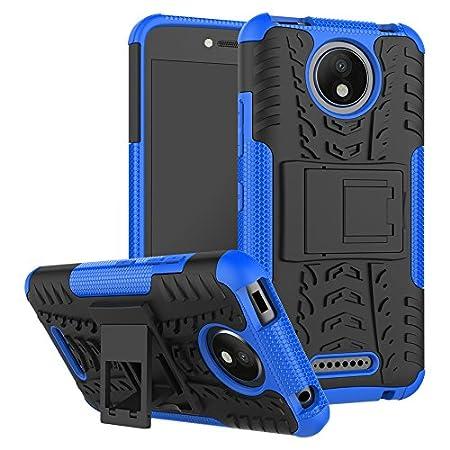 FoneExpert® Motorola Moto C Plus Handy Tasche, Hülle Abdeckung Cover schutzhülle Tough Strong Rugged Shock Proof Heavy Duty Case Für Motorola Moto C Plus