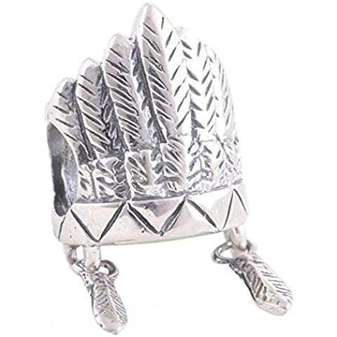 TAOTAOHAS antico ossidato sterling 925 argento charms beads perline [ cappello emirati ] collane bracciali