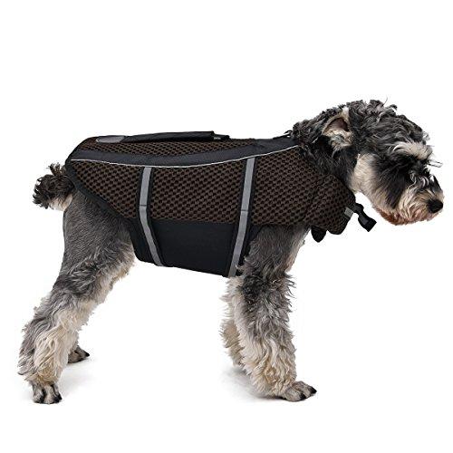 HBR verstellbar Dog Life Jacket Sicherheit Vest Pet Schwimmen Outdoorbereich Kleidung mit Schlaufen (Dog Life Jacket Extra Klein)